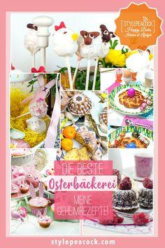 OSTERBÄCKEREI | Die besten Geheimrezepte! Vom Osterkränzchen über Cakepops, Hasen-Muffins und Kuchen bis zum Minigugl-Brownie! #osterbäckerei #easterrecipes #easterbaking #backrezept #osterrezept #minigugl #brownie #rührkuchen #kokoskuchen #cakepop #cakepops Sandwich Torte, Cupcakes, Cakepops, Tea Time, Lifestyle Blog, Muffins, Sweets, Desserts, Group