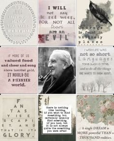 Some wonderful JRR Tolkien quotes...