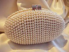 pearl clutch. #bridal #wedding