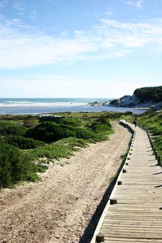 Noordhoek Beach is miles of white sand and gloriously blue waters #paradise