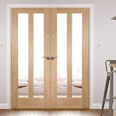 """Double Doors - Internal & External Double Doors - Direct Doors UK Tagged """"internal-french-doors"""" - July 02 2019 at Prehung Interior Doors, Double Doors Interior, Interior Barn Doors, Exterior Doors, Interior Shutters, External Double Doors, Internal French Doors, Oak Doors, Wooden Doors"""