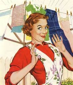 Laundry Day Proud vintage happy housewife illustration Retro Humor, Vintage Humor, Vintage Ads, Retro Funny, Vintage Apron, Pop Art Vintage, Images Vintage, The Funny, Funny Shit