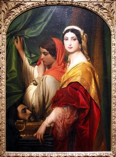 Herodias with the Head of St. John the Baptist - Paul Delaroche - Wallraf-Richartz Museum - Cologne - Germany 2017 - Paul Delaroche - Wikipedia Paul Delaroche, Renaissance Kunst, Academic Art, Guache, Classic Paintings, John The Baptist, Art Database, Classical Art, Aesthetic Art