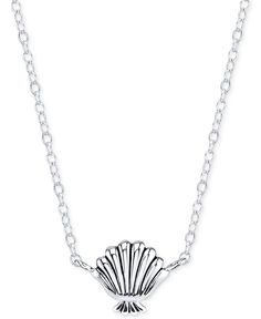 Disney The Little Mermaid Seashell Pendant Necklace in Sterling Silver