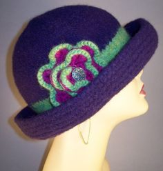 Purple Felted Brim Hat by yoursbydesign on Etsy, $69.00