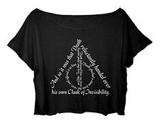 ASA Women's Crop Top Harry Potter Quotes Shirt Chronicles the Adventures T-shirt (Black) ASA http://www.amazon.com/dp/B010CM1VKS/ref=cm_sw_r_pi_dp_iyiDwb03C2RS2