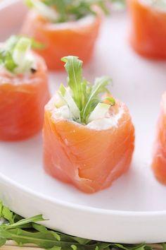 Roulés de saumon fumé à la pomme Granny et pamplemousse - fancy-edibles.com