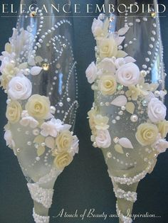 A beautiful white & champagne color wedding by EleganceEmbodied, $65.00