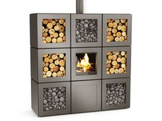 Store your oddly identical stacks of wood or rocks in your very own modular stove arrangement.