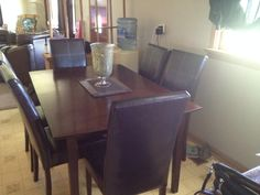 Refinished Dining Room Set Table Buffet And 4 Chairs 40000 Must