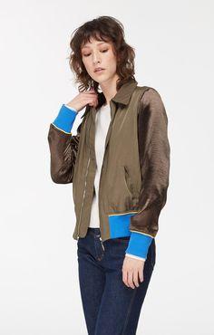 0abd916ceab Tally Lightweight Bomber Jacket with Metallic Sleeves – Noize Original