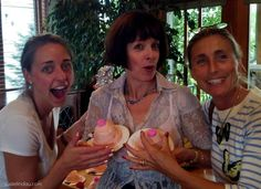 Susie Lindau's blog post - recovering from her mastectomy. Friends threw a Boob Send Off party before the surgery.   http://susielindau.com/2013/06/21/the-boob-report-bosom-boosting-buddies/