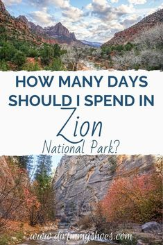 How many days should I spend in Zion National Park? With so many things to do in Zion, it can be hard to know how much time you need. This will help you plan the right amount of time in the park for your vacation. Utah Parks, Grand Canyon South Rim, Most Visited National Parks, Zion Canyon, How Many Days, Zion National Park, Trip Planning, Monument Valley, The Good Place