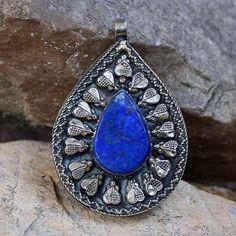 Lapis Lazuli Afghan pendant - look4treasures on Etsy