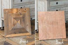 Reclaimed Wooden Floor Board Squares