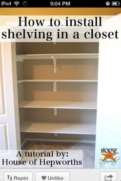 I GOne do this in my closet oooo yea !!! :)