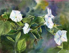 Swietliste dzwonki/Bright bells by stokrotas on DeviantArt Group Art, Plant Leaves, Flora, Art Gallery, Deviantart, Bright, Watercolor, Landscape, Nature