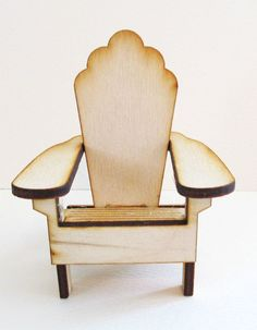 Timeless Mini Adirondack White Wood Chair miniature wedding cake topper 2 chairs