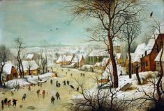 Pieter Bruegel Winter Landscape with a Bird Trap by Pieter Bruegel the Elder
