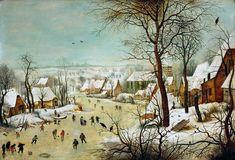Pieter Bruegel Winter Landscape with a Bird Trap by Pieter Bruegel the Elder