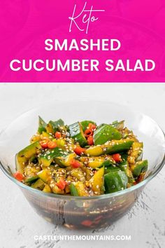 This low carb / Keto Smashed Cucumber Salad recipe is adapted from popular Asian cuisine to be healthy, easy and delicious. Low Carb Keto, Low Carb Recipes, New Flavour, Diet And Nutrition, Good Food, Paleo, Healthy Eating, Popular