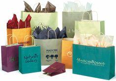 Oatmeal Tint Shopping Bags
