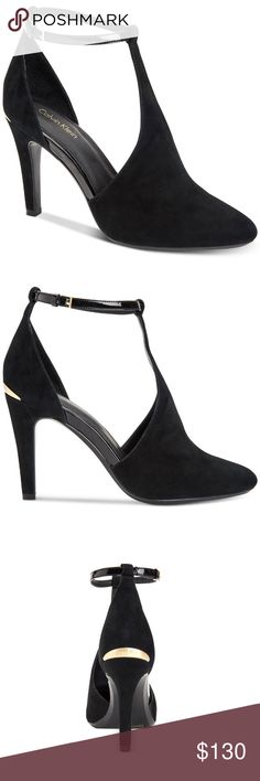 Calvin Klein Cherilyn Ankle Strap Pumps *product details is in one of the photos  *no flaws  make me an offer! or click bundle and i can send you at a personal offer!  any questions? be sure to comment below! Calvin Klein Shoes Heels