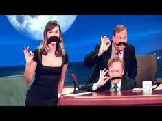 "Rashida Jones And Conan Play The Mustache Game - ""Keep that camera still or I'll kill you!"""