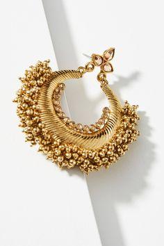 Slide View: 2: Acorn Hoop Earrings