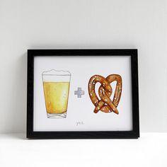 Beer + Pretzel Print