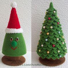 Pinitos a dos agujas y crochet para Navidad