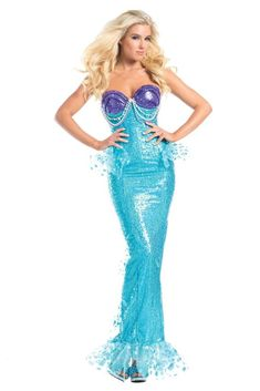 1a0c37252c92 UHC Women's Dark Water Siren Mermaid Goth Black Fancy Dress Adult Halloween  Costume, L (12-14) >>> Learn more by visiting t… | Women Halloween Costumes  ...