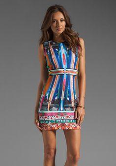 CLOVER CANYON Long Board Neoprene Dress in Multi
