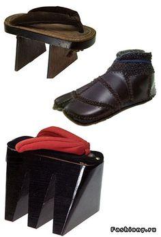 Старинная обувь на все вкусы. Япония - 19 век