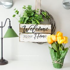 Simple Spring Wreath DIY tutorial that takes only a couple supplies and a few minutes to assemble! Loving this pretty Farmhouse Spring Wreath! Diy Spring Wreath, Diy Wreath, Spring Crafts, Wreath Tutorial, Diy Tutorial, Christmas Trivia Games, Diy And Crafts, Crafts For Kids, Easy Crafts