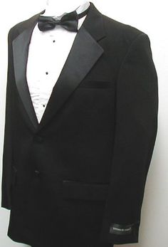 New Mens Two Button Black Tuxedo Suit - Includes Jacket and Pants