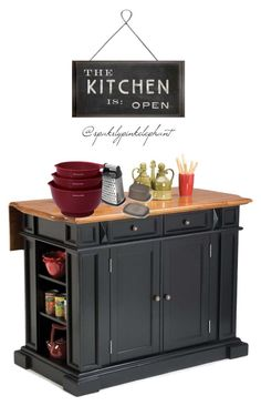 Home Styles Traditions Distressed Oak Drop Leaf Kitchen Island In At The  Home Depot