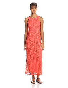 127e5b9f6 Sandra Darren Women's Crochet Lace Maxi Dress, Dubarry, 12 Sandra Darren  http:/