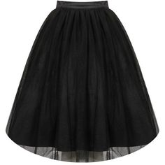 'Edie' Black Tulle Tutu Skirt ($33) ❤ liked on Polyvore featuring skirts, calf length skirts, tulle ballerina skirt, tulle midi skirt, tulle tutu and ballet skirt
