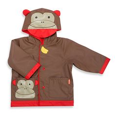 This adorable monkey-themed raincoat from SKIP*HOP protects your child from the rain while still looking cute.
