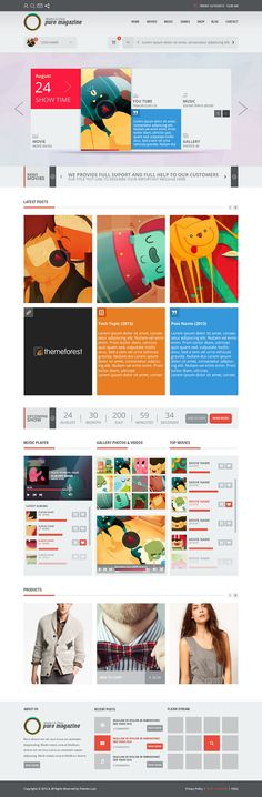 Pure:Magazine/Blog/Shop/News HTML5 Bootstrap3 by gohawise
