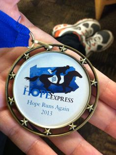 Spike's trophies donated these personalized medals to the Hope Express. A 135 mile run from Hershey Medical Center to Penn State in order to bring letters from the Children at Hershey to the dancers at PSU THON raising money to help the families of children battling pediatric cancer.