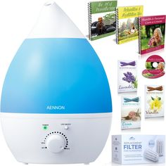 Premium Cool Mist Ultrasonic Humidifier w/ Aroma Essential Oil Diffuser - No Noise - 7 Color LED Lights - 7 Hours  Use - Auto Shut-off and ETL Safety Approval for Children *** Check this awesome product by going to the link at the image.