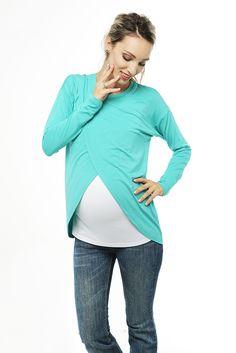 Топ для беременных и кормящих Love & Carry® Maternity - Ментоловый