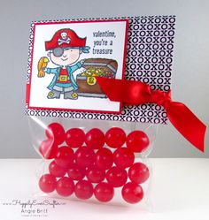 Happily Ever Crafter: Valentine treats created with Hey, Valentine by Stampin' Up! Angie Britt; Stampin' Up! demonstrator