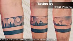 Nature dotwork Armband tattoo by Rohit Panchal at CrazyAddictionTattoo