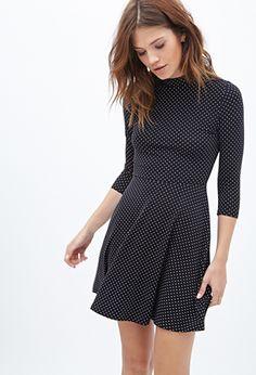 Polka Dot Turtleneck Dress | FOREVER21 - 2000101018