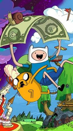 Fin And Jake, Adventure Time Wallpaper, Finn The Human, Retro Wallpaper, Sonic The Hedgehog, Kawaii, Anime, Fictional Characters, Art
