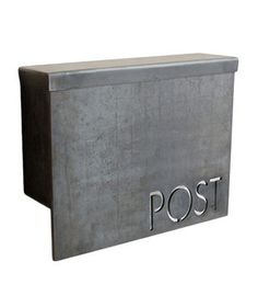 MB1 Modern Mailbox  This sleek, flip-top design develops a patina of rust as it ages, bridging the gap between its modern elegance and the timeless tradition of letter writing.    To buy: $245, etsy.com.