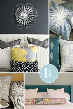 How to Arrange Bed Pillows, arranging bed pillows Pillow Talk interior design                                                                                                                                                                                 More
